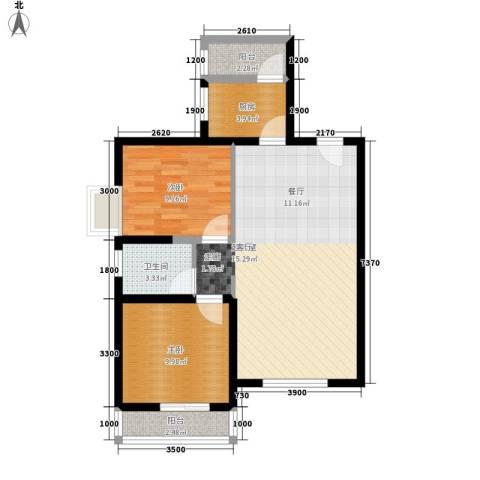 凯旋广场2室0厅1卫1厨96.00㎡户型图
