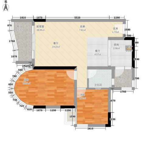 颐景华苑2室0厅1卫1厨88.00㎡户型图
