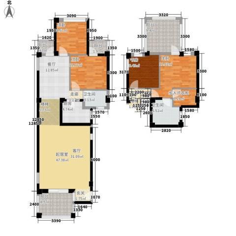 兰桥尚舍4室0厅2卫1厨142.60㎡户型图