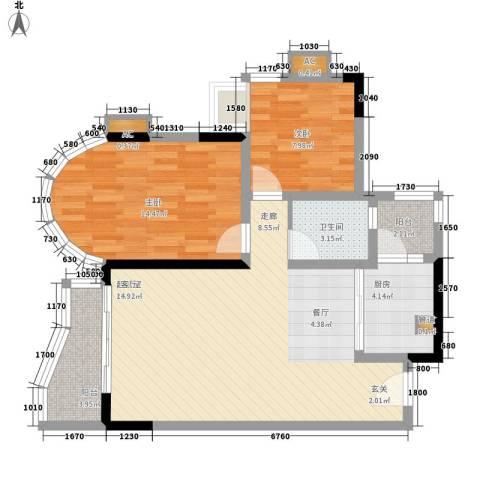 颐景华苑2室0厅1卫1厨83.00㎡户型图