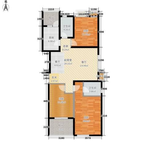 佳馨花园3室0厅2卫1厨120.00㎡户型图