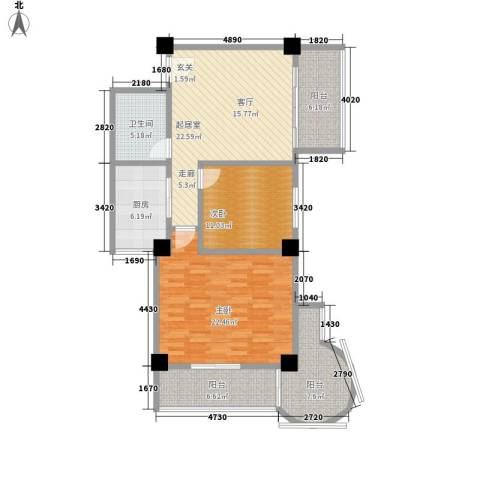 时代明丰苑2室0厅1卫1厨100.00㎡户型图