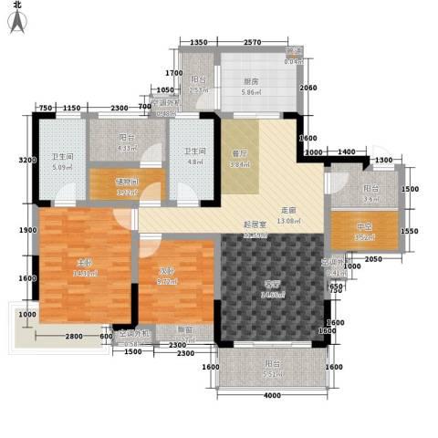 保利新天地2室0厅2卫1厨111.58㎡户型图
