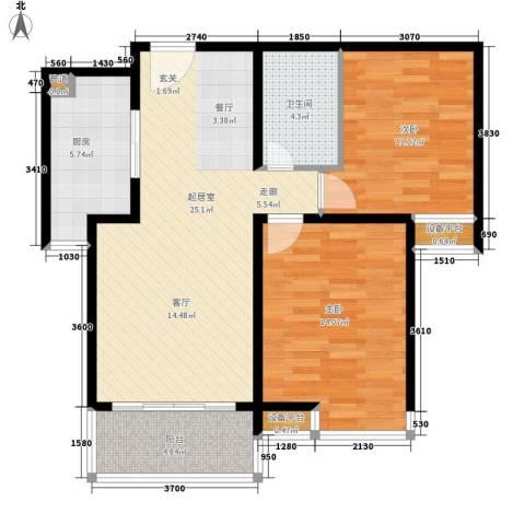 佳馨花园2室0厅1卫1厨141.00㎡户型图