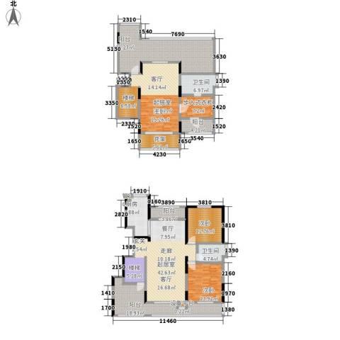 华远海蓝城2室0厅2卫1厨196.13㎡户型图