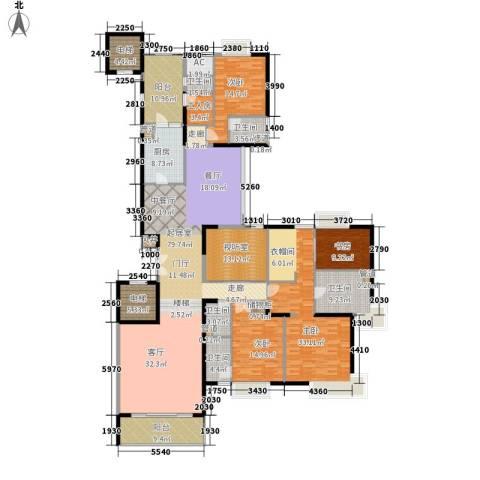 粤海丽江花园4室0厅5卫1厨270.00㎡户型图
