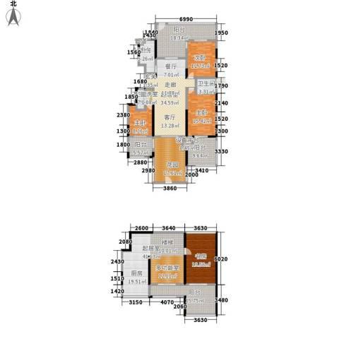 华远海蓝城4室0厅2卫1厨245.00㎡户型图