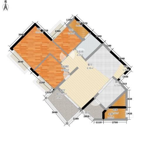 盈彩美居3室0厅1卫1厨94.00㎡户型图