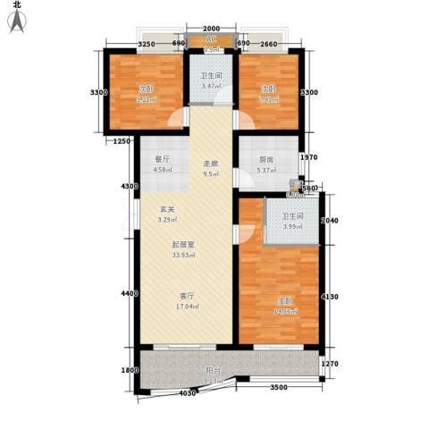运通馨苑3室0厅2卫1厨114.00㎡户型图