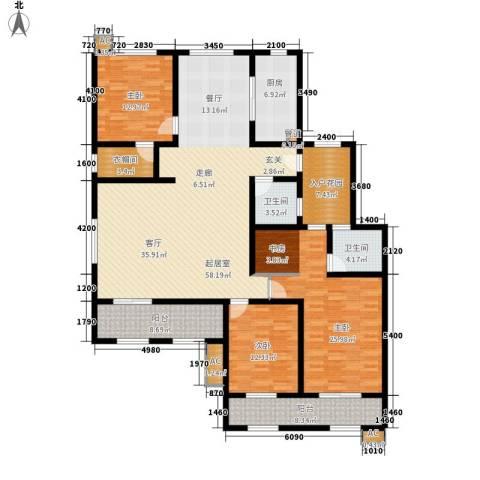 易水龙脉3室0厅2卫1厨176.54㎡户型图