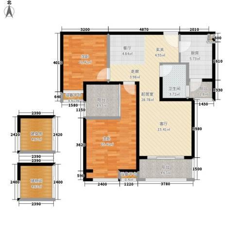 吉祥小区2室0厅1卫1厨96.00㎡户型图