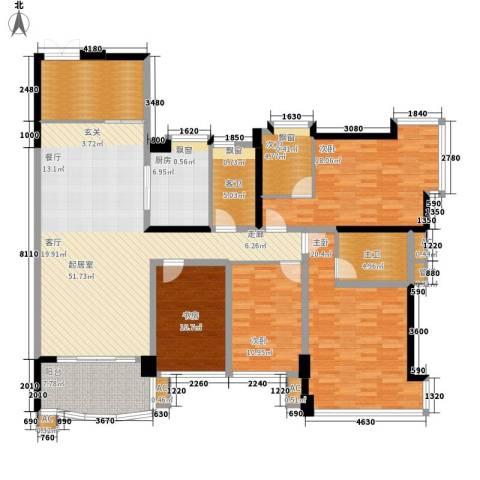 广州雅居乐花园十年小雅4室0厅0卫1厨165.00㎡户型图