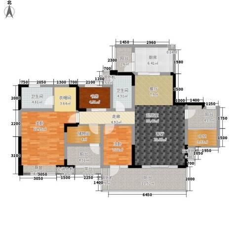 保利新天地3室0厅2卫1厨134.00㎡户型图