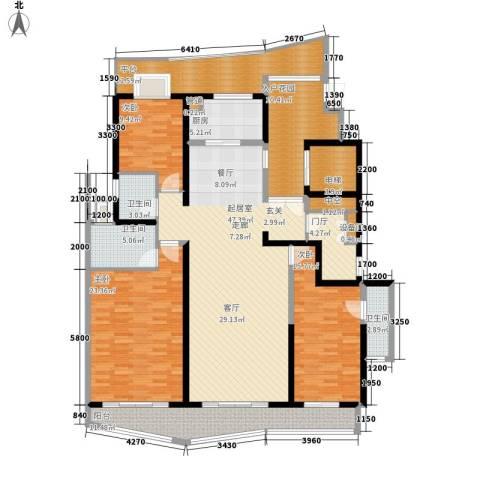 成都大魔方3室0厅3卫1厨177.00㎡户型图