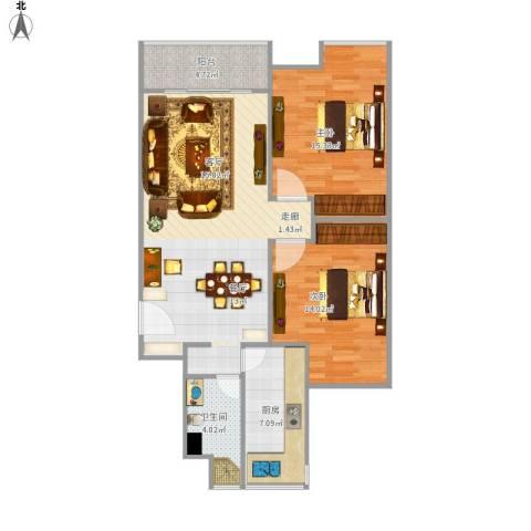 和源祥邸珑庭2室1厅1卫1厨102.00㎡户型图