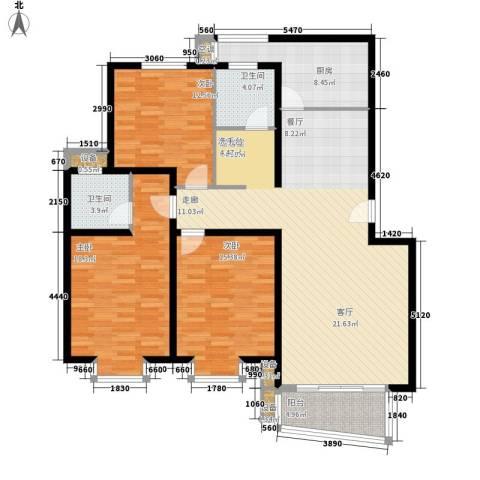 汇景新苑3室0厅2卫1厨129.00㎡户型图