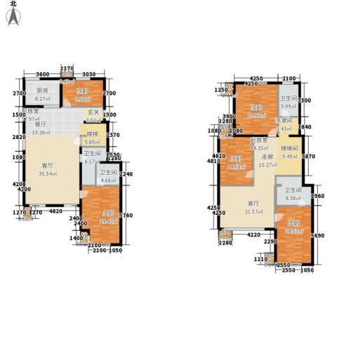 易水龙脉5室0厅4卫1厨248.17㎡户型图