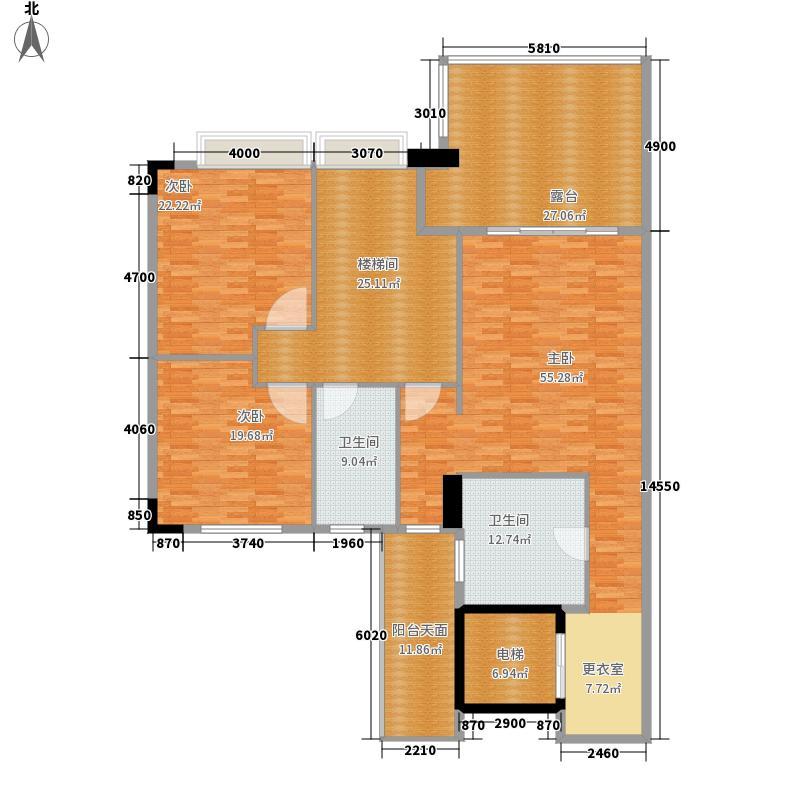 都市兰亭208.24㎡C2座13层复式面积20824m户型