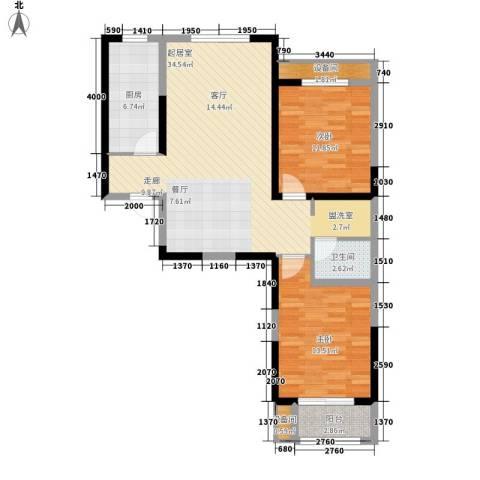 燕都紫阁2室0厅1卫1厨100.00㎡户型图