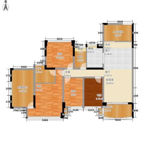 广州雅居乐花园十年小雅4室0厅0卫1厨157.00㎡户型图