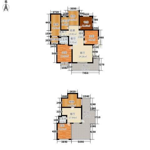四季阳光花园4室2厅3卫1厨233.33㎡户型图