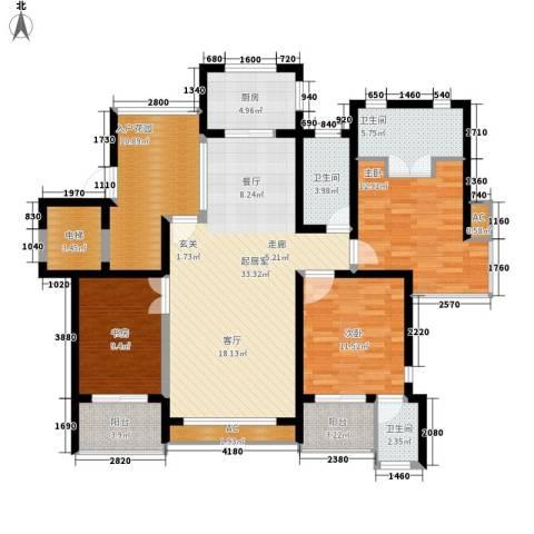 翠屏紫气钟山3室0厅3卫1厨126.00㎡户型图