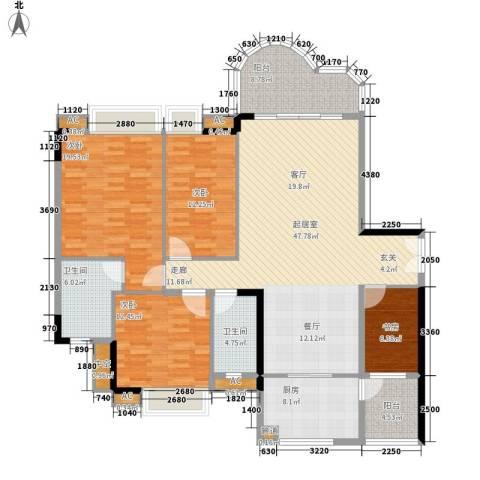颐景华苑4室0厅2卫1厨150.00㎡户型图