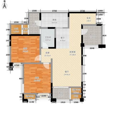 黄河温泉住宅小区2室0厅1卫1厨135.00㎡户型图