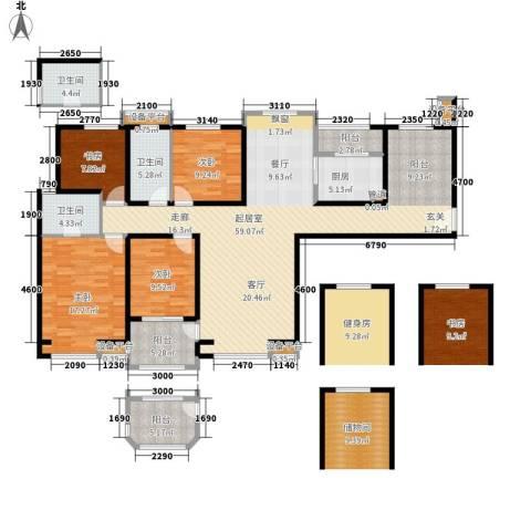 吉祥小区4室0厅3卫1厨158.00㎡户型图
