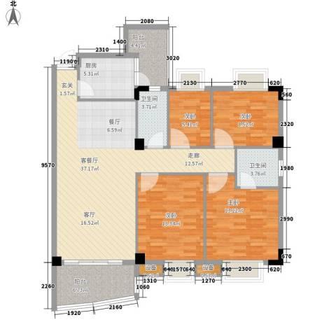 泰景花园4室1厅2卫1厨119.00㎡户型图