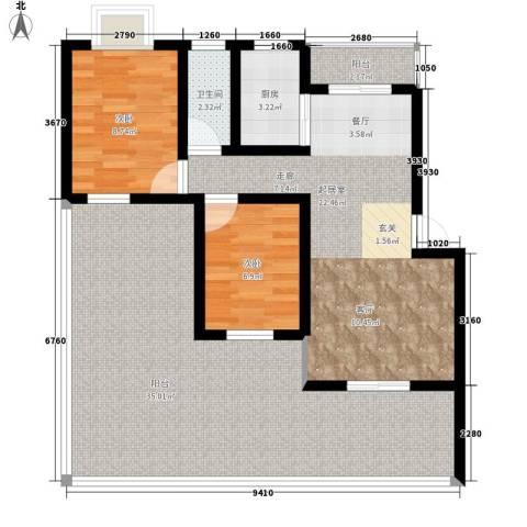 上东莱克辛顿2室0厅1卫1厨93.00㎡户型图