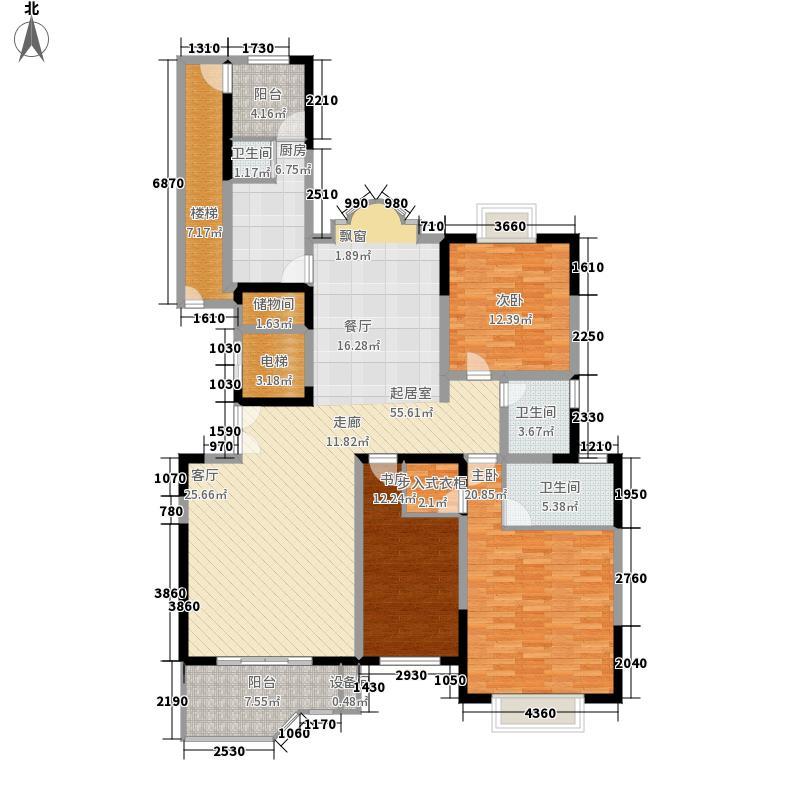 金正缔景城165.18㎡8号楼标准层面积16518m户型
