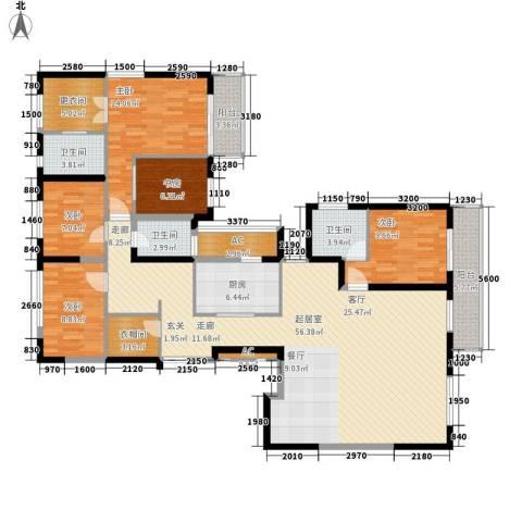 长江路九号5室0厅3卫1厨160.00㎡户型图