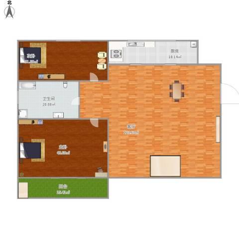 景山小区2室1厅1卫1厨265.36㎡户型图
