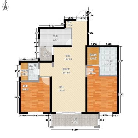 长江路九号2室0厅2卫1厨133.00㎡户型图