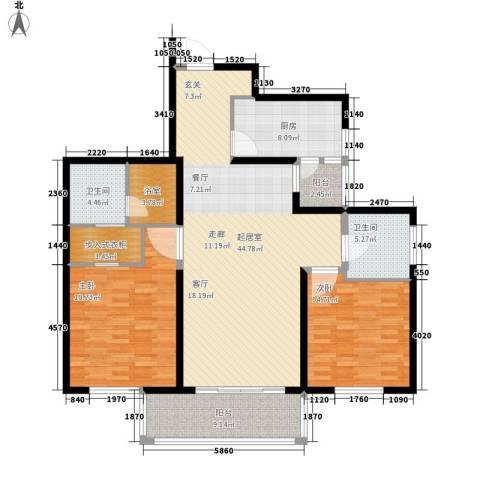 长江路九号2室0厅2卫1厨130.00㎡户型图