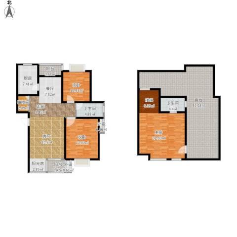 碧水云天家园3室1厅2卫1厨242.00㎡户型图