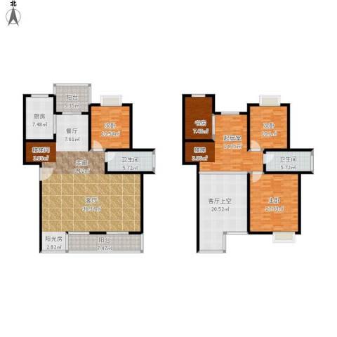 碧水云天家园4室1厅2卫1厨244.00㎡户型图