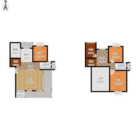 碧水云天家园4室1厅2卫1厨238.00㎡户型图