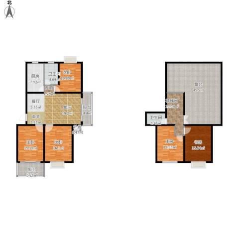 碧水云天家园5室1厅2卫1厨253.00㎡户型图