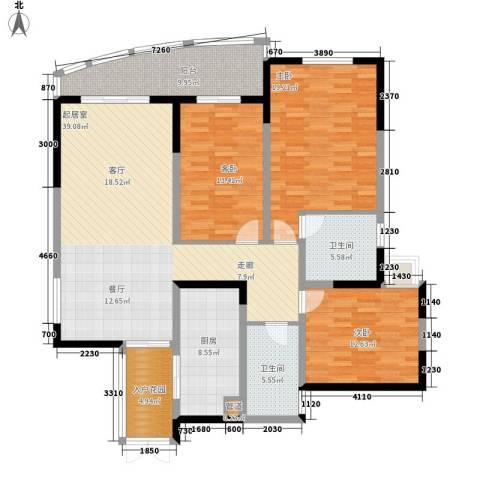 嘉年华国际社区3室0厅2卫1厨134.00㎡户型图