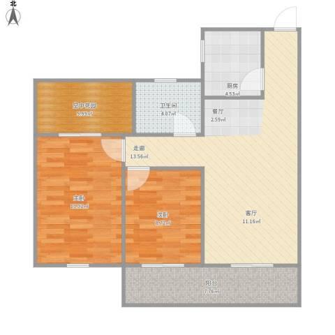 梧桐公馆2室1厅1卫1厨94.00㎡户型图