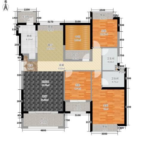 合景香悦四季3室0厅2卫1厨174.00㎡户型图