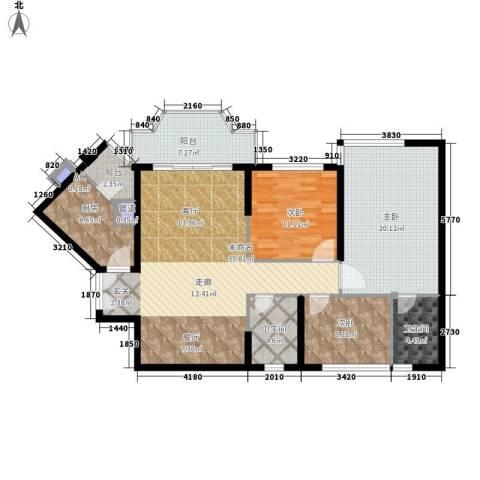 祈福新村活力花园3室0厅2卫1厨114.00㎡户型图