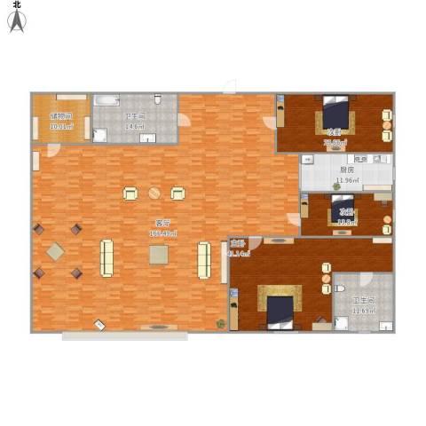 雍景台3室1厅2卫1厨381.00㎡户型图