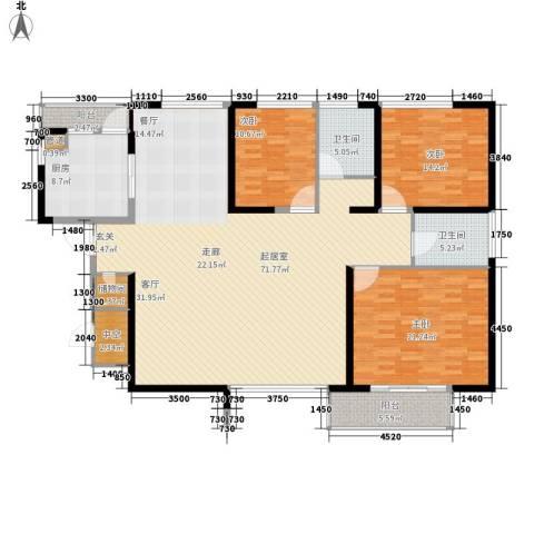 长江路九号3室0厅2卫1厨165.00㎡户型图