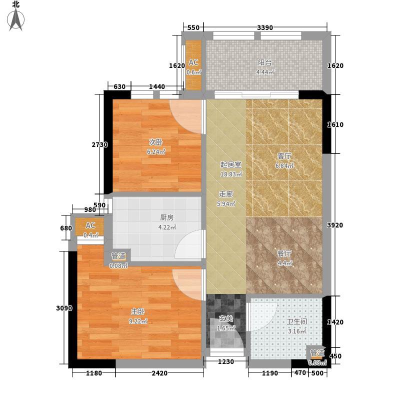 成都新天地60.92㎡一期1号楼标准层B户型