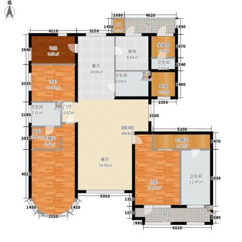 天润福熙大道4室0厅4卫1厨267.00㎡户型图