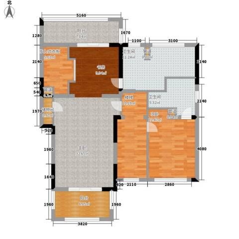 保利星海屿2室0厅2卫0厨210.00㎡户型图