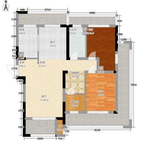 保利星海屿2室0厅1卫1厨210.00㎡户型图